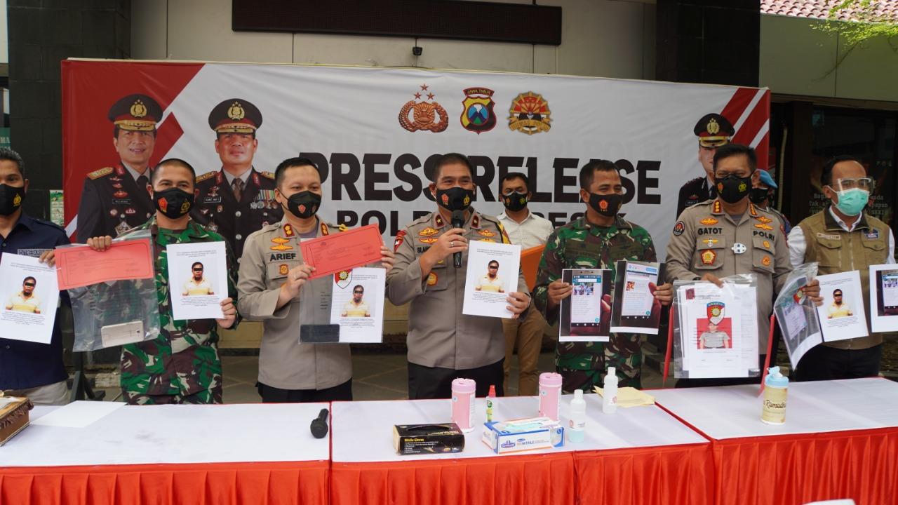 Press Release berita Hoax Kasdim 0817/Gresik,Waka Polda turut hadir
